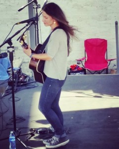 Natasha Borzilova onstage at Bristol Rhythm & Roots Reunion